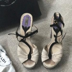 Prada Platform Suede Sandal